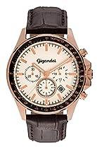 Gigandet VOLANTE Herren Armbanduhr Chronograph Analog Quarz Rotgold Weiß G3-006