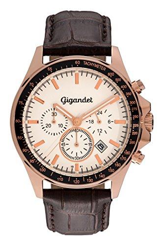 Gigandet G3-006 - Reloj, correa de cuero color marrón