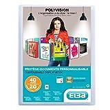 Elba - 100206088 - Polyvision Protège-Documents Personnalisable 40 Vues Polypropylène Translucide A4 Incolore