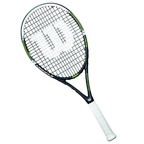 Wilson Tennisschläger Damen/Herren, All Courter, Freizeitspieler, Monfils Lite 105, Größe 3, Schwarz/Grün
