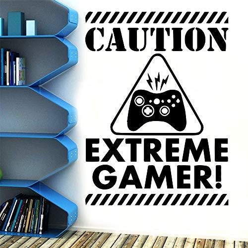 zqyjhkou Zitate Vorsicht Extreme Spiel Wandaufkleber Vinyl Wandkunst Aufkleber Für Wohnzimmer Unternehmen Schule Spielzimmer Dekoration Kunstwand M 30 cm X 40 cm