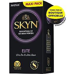 SKYN Elite 20 Préservatifs Masculins Ultra fins et Ultra doux