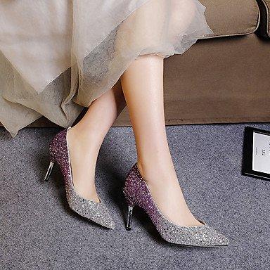 Talons féminins Printemps Été Automne Autre Glitter Party & Evening Casual Stiletto Heel Sequin Black Purple Almond Black