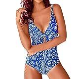 ITISME Frauen Sommer Backless Strand Print Bademode Beachwear Siamese Badeanzug Bikini Set