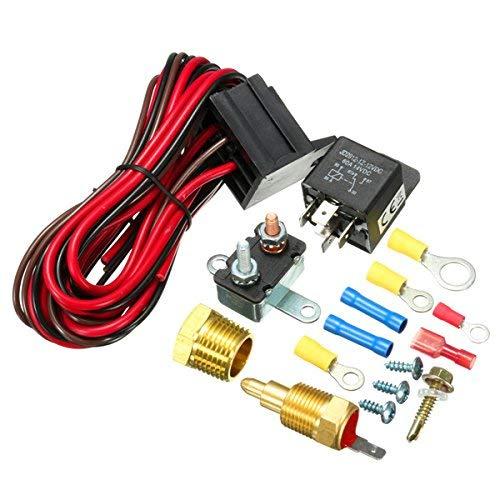 SUCAN 210~195 Grad Motorkühlgebläse Thermostat Temperaturschalter Sensor Relay Kit -