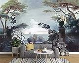 Papier peint intissé tapisserie murales panoramique 3D Europeanstyle papier peint peint à la main forêt tropicale médiévale murale TV fond mur décoration de la maison papier peint photos