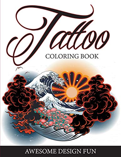 Tattoo coloring book: awesome design fun