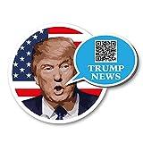 Trump-News Aufkleber 3Stück mit QR-Code zum Twitter Account @realDonaldTrump von Präsident Donald J Trump. Scan und erfahre Trump Nachrichten Heute