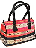 Exotic India Pink and Black Tote Bag fro...