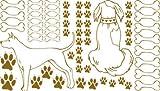 Der Ruhe tatuaggio Per soggiorno cani osso zampe