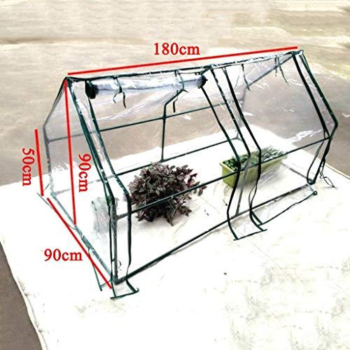 XY&CF-Flower house Pflanzen gewächshaus PVC transparente Abdeckung Metall stahlrohr Halter...