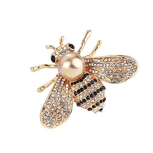 Vektenxi Biene Big Faux Perle Strass Brosche Schal Kleidung Dekor Schmuck Langlebig und Nützlich