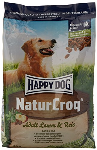 Happy Dog Naturcroq Croquette Agneau/Riz pour Chien Adulte 4 kg