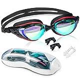 arteesol Swimming Goggles, Swim Goggles No Leaking Case Anti Fog UV Protection Triathlon