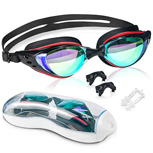 arteesol Schwimmbrille, Schwimm Brillen Keine undichten Gehäuse Antibeschlag UV-Schutz Triathlon Schwimmbrillen für Erwachsene Männer Frauen (Schwarz)