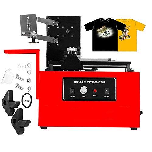 Desktop-barcode-drucker (ZauberLu Desktop Elektro Pad Printer YM600-B Tinte Druckmaschine Prägemaschine Stanzmaschine Drucker für Herstellungsdatum Haltbarkeit Charge Barcode-Muster in Flasche Dose Schale Kastens (YM600-B))