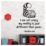 V&C Designs Ltd Wandaufkleber Motiv Grinse-Katze I'm Not Crazy, Vinyl-Wandsticker, Selbstklebend