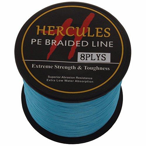 Hercules PE Superline geflochtene Angelschnur 1000?m 10lb-300lb, 8-fach, Herren, blau, 30lb/13.6kg 0.28mm