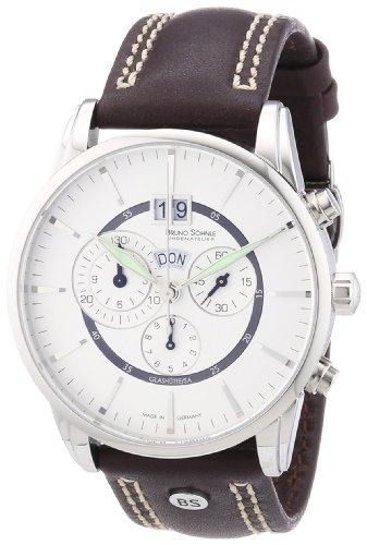 Bruno Söhnle Herren-Armbanduhr XL Atrium Chronograph Quarz Leder 17-13054-241