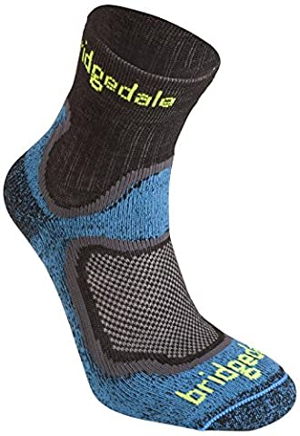 Bridgedale Men's Run Speed Fusion Cool chaussettes de randonnée Bleu Bleu Size 9-11.5