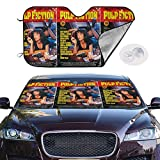 JKKSA Pare-Soleil pour Pare-Brise Avant,Pulp Fiction Auto Shield Cover Sun Shade for Windshield UV Sun and Heat Reflector