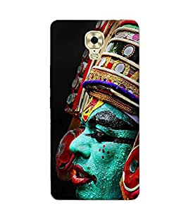 FUSON Kathakali Dancer Face 3D Hard Polycarbonate Designer Back Case Cover for Gionee M6 Plus