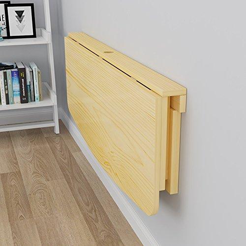 Drop-leaf Table SoBuy Tisch Massiv Holz Wandmontage Wand Ausziehbarer Esstisch Space Saver, auf Schreibtisch Faltbar Kinder Tisch Schreibtisch, Holz, 80*40cm