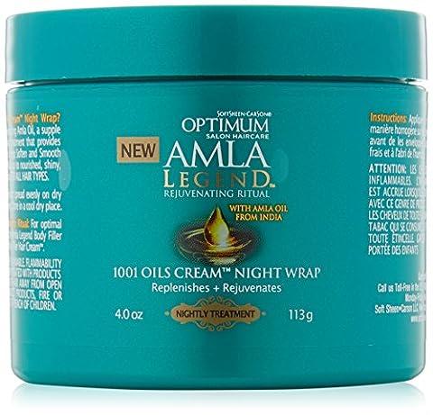 optimum salon haircare amla legend 1001 oils cream night wrap 113g