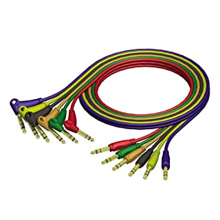 ah Cables ProCab Serie REF790 Patchkabel Set 6,3 mm Klinke stereo auf 6,3 mm Winkelklinke stereo 0,9 m