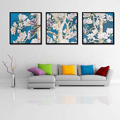 YULXS 3 Stück Set Eiche Thema Rahmenlose Leinwand Wandbild Home Decoration Schlafzimmer Wohnzimmer Dekorative Malerei,001 -
