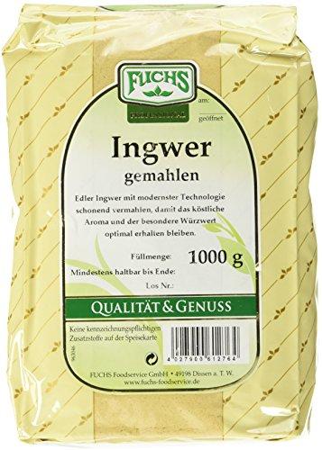 FUCHS Ingwer gemahlen, 2er Pack (2 x 1 kg)