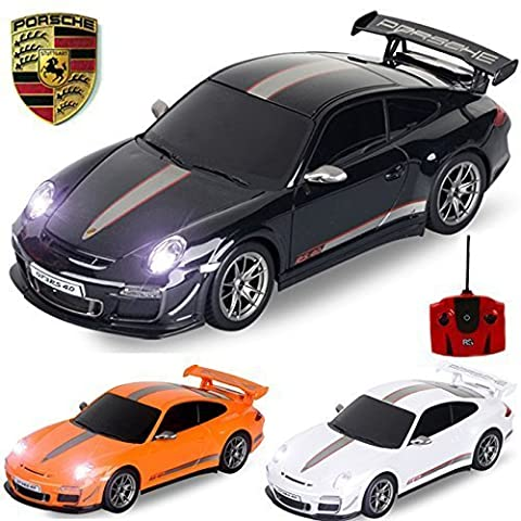 Official Licensed Comtechlogic® CM-2183 1:18 Porsche 911 GT3 RS 4.0 Radio Controlled RC Electric Car Ready To Run EP RTR - BLACK