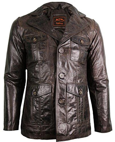 Sakko, Braunes Blazer (Vintage Herren Leder Blazer (3XL))