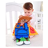 Baby Spielzeug Kuke Baby Bücher Tuch-Bücher speziell für Babys bunt mit dreidimensional Bilder waschbar visuelle Entwicklung Aufmerksamkeit fördern