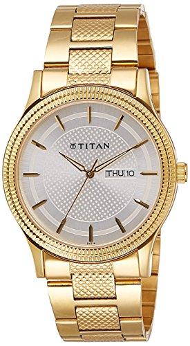 51%2BBcBXKl2L - Titan 1650YM05 Silver Mens watch