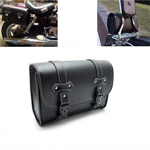 Schwarz Motorrad Taschen satteltaschen Aufbewahrung Werkzeug für Sissy Bar