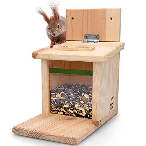 NEU - Eichhörnchen Futterhaus von AniForte ® incl. Eichhörnchenfutter, naturbelassenes Eichhörnchenhaus Eichhörnchenfutterhaus Eichhörnchenfutterstation Test