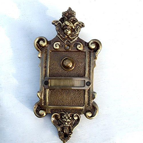 Antikas - Türklingel Engel - Teufel Motiv - Klingel im Gründerzeit Stil Jahrhundertwende