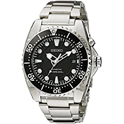 Kinetic Stainless Steel Dive Watch Black Dial