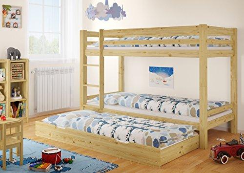 Erst-Holz Letto Castello 90x200 per Bambini divisibile con ...