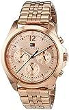 Tommy Hilfiger Damen Analog Quarz Uhr mit Edelstahl beschichtet Armband 1781700