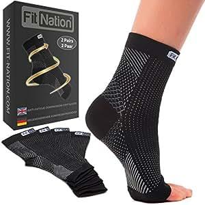 FIT NATION Plantar Fasciitis Socks - Black S/M: Amazon.co