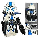 Custom Brick Design CBD 501st Legion Clone Trooper Offizier Captain Baaki Figur Gefertigt aus Lego Star Wars & Custom Teilen