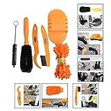 OFKPO 6 Stück Fahrradreiniger Kit,Professionelle Fahrrad Reiniger Werkzeug(Orange)