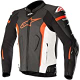 Alpinestars Missile Leather Giacca - Tech-Air Compatible Nero Bianco Rosso Fluo Air 50