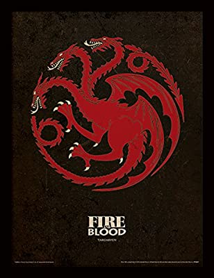 "Game of Thrones Targaryen Game of Thrones """" 30x 40cm Affiche encadrée"
