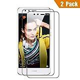 Huawei P10 Lite Film Protection d'écran en Verre Trempé, ViViSun Protection écran Huawei P10 Lite en Verre Trempé (la taille des films est intentionellement réduite à cause d'un écran bombé)