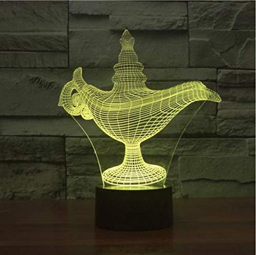 Mmneb Buntes Acryl 3D LampeProjektion Usb Führte Nachtlicht Halloween Geschenk 3D Leuchten Luminaria Führte Kindertischlampe