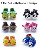 HOME CUBE Baby Girl and Baby Boy Cartoon Face Booties - HC-018, Assorted, 0-6 months