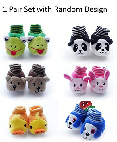 HOME CUBE Baby Girl and Baby Boy Cartoon Face Booties - HC-018,...